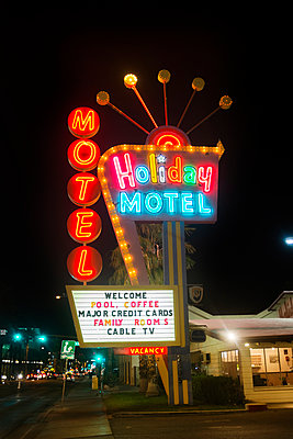 Motel in Las Vegas - p956m1104110 by Anna Quinn