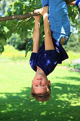 Kopfüber am Baum - p045m1064538 von Jasmin Sander
