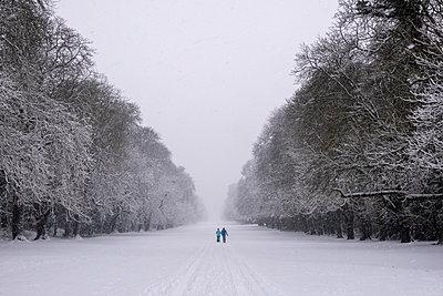 Spaziergang im Schnee - p1057m2057296 von Stephen Shepherd