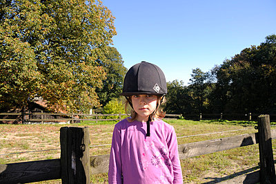 Little girl with helmet - p3660008 by Hartmut Gerbsch