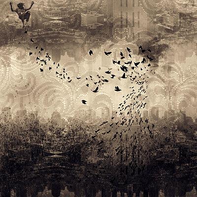 Bird Swirl - p1636m2216314 by Raina Anderson