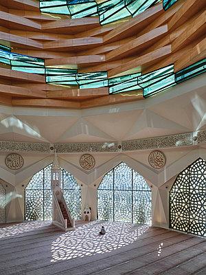 Türkei, Istanbul, Marmara-Universität, Moschee der Fakultät für Theologie - p390m2254453 von Frank Herfort