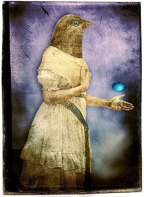 Bird-head Woman - p1693m2291584 by Fran Forman