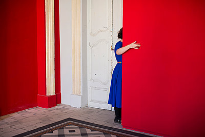 Red wall - p1153m965622 by Michel Palourdiau
