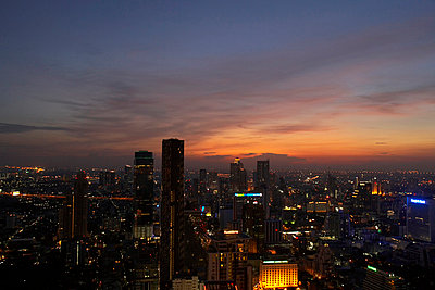 business district of Bangkok at sunset - p4299143f by Tim Hall