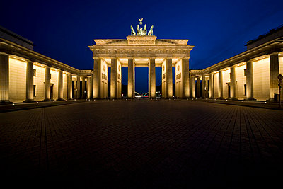 The Brandenburg Gate at night - p3017727f by Caspar Benson