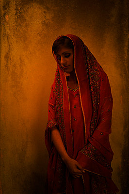 Indian woman in sari - p7940258 by Mohamad Itani