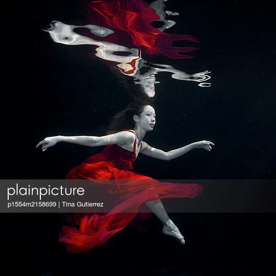 Underwater dancer - p1554m2158699 by Tina Gutierrez