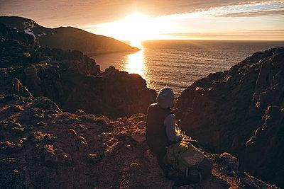 Sunset, Barents Sea, Teriberka, Kolsky District, Murmansk region, Russia - p1108m2193224 by trubavin