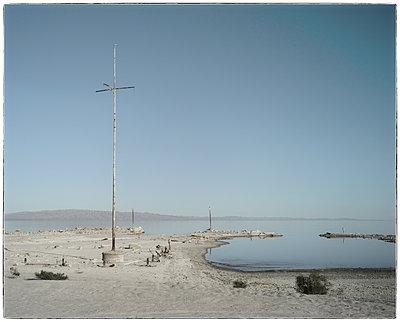 Salton Lake with low water  - p1154m1110215 by Tom Hogan