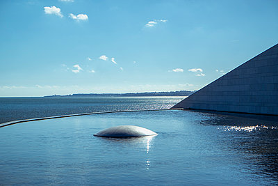 Massive concret structure on the waterfront, Lisbon - p335m2177651 by Andreas Körner