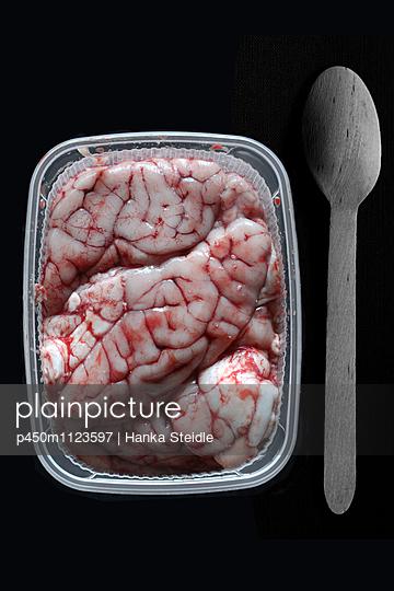 Hirn in einer Plastikschale       - p450m1123597 von Hanka Steidle