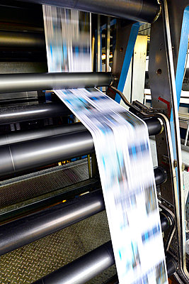 Printing of newspapers in a printing shop - p300m2213846 by lyzs