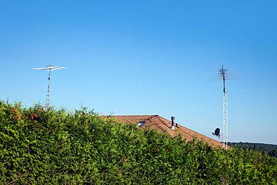 Antennen auf einem Dach - p8360071 von Benjamin Rondel