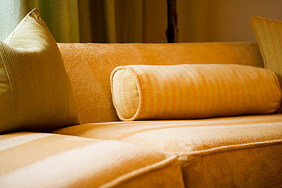 Detail of Tan Contemporary Sofa - p5550295f by LOOK Photography