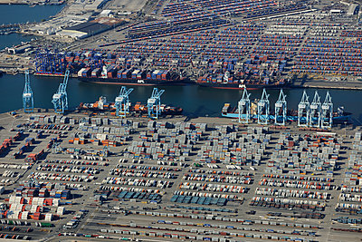 Container port - p1048m1069321 by Mark Wagner