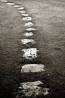 Stone Path - p1072m829148 by Kevin Mallia