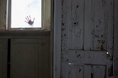 Creepy Hand in Window - p1262m1125272 by Maryanne Gobble