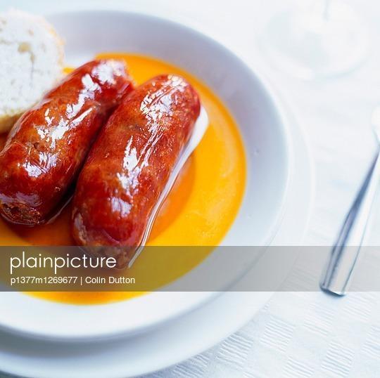 Chorizos in Tapas Bar Canarias - p1377m1269677 by Colin Dutton