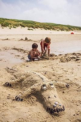 Krokodil am Strand - p305m1171478 von Dirk Morla