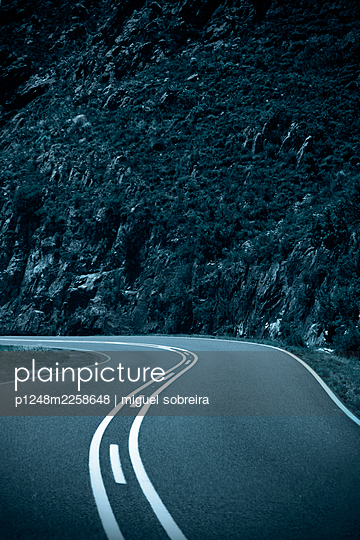 Winding mountain road - p1248m2258648 by miguel sobreira