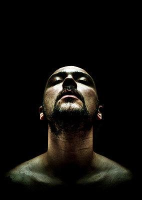 Bald man under the light - p1165m952571 by Pierro Luca
