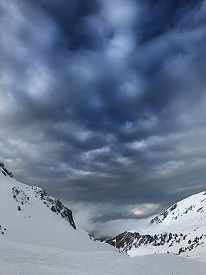 Snow in the mountains - p1048m2016560 by Mark Wagner