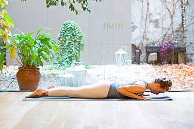 Woman Practicing Yoga - p669m1003912 by Blossom Peaches