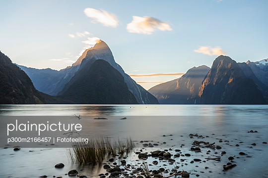 New Zealand, Long exposure of Milford Sound - p300m2166457 by Fotofeeling
