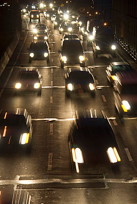 Highway at Night, New York City - p5690013 by Jeff Spielman