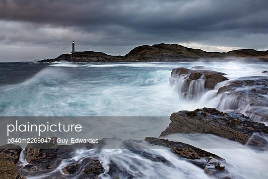 Ardnamurchan Lighthouse, Ardnamurchan Peninsula, Scotland, UK. October 2006. - p840m2269847 by Guy Edwardes