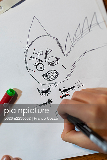 Child's drawing - p628m2238082 by Franco Cozzo