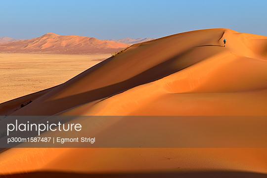 Oman, Dhofar, sand dunes in the Rub al Khali desert - p300m1587487 by Egmont Strigl