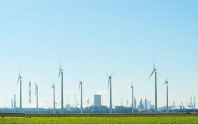 Windfarm, Rilland, Zeeland, Netherlands - p429m1080073f by Mischa Keijser