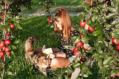 Unter dem Apfelbaum lesen - p533m2044357 von Böhm Monika