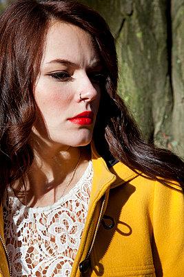 Yellow coat - p1013m892279 by G. Bursac