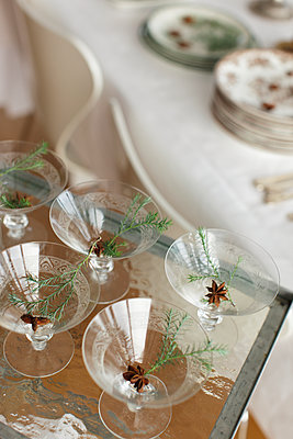 Glasses with anise - p312m1570610 by Christina Strehlow