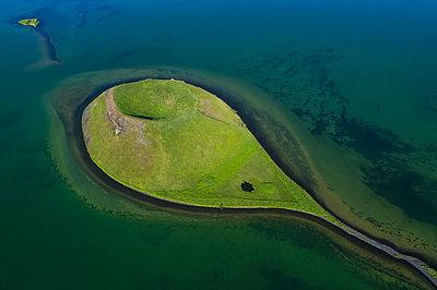 Extinct volcano in Lake Myvatn, Northern Iceland; Iceland - p442m1580591 by Robert Postma
