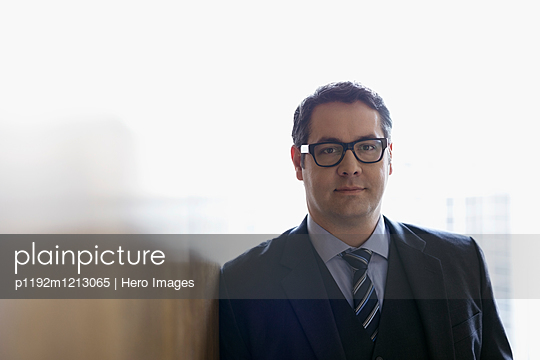 Portrait confident businessman