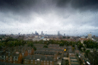 Clouds and rain above London - p388m877042 by Bill Davies