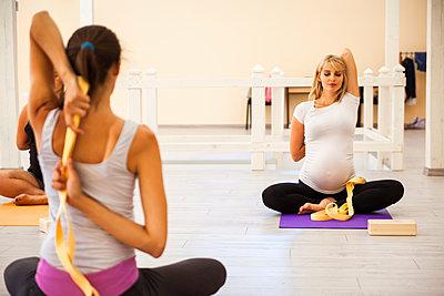 Prenatal yoga class - p300m1189171 by Zeljko Dangubic