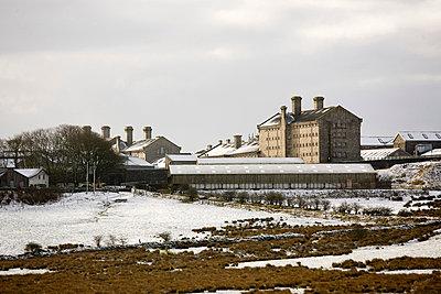 Dartmoor Prison in the snow, Dartmoor, Devon - p8551085 by David Clapp