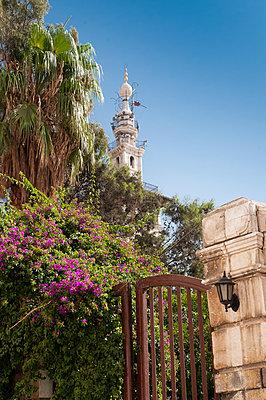 Minarett der Umayyaden-Moschee in Damaskus, Syrien - p1493m2063994 von Alexander Mertsch