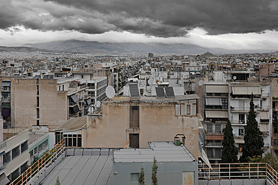 Athens skyline - p1048m1040899 by  Mark Wagner