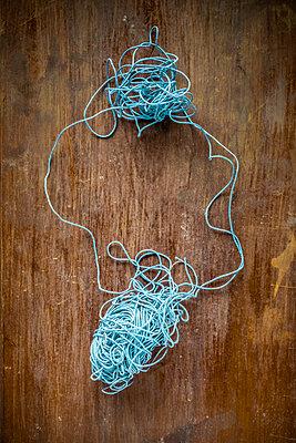 A ball of blue thread  - p1302m2027780 by Richard Nixon