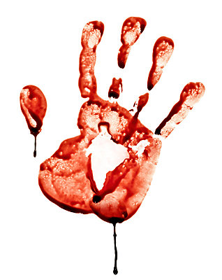Bloody handprint - p3940209 by Stephen Webster