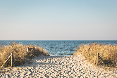 Germany, Warnemuende, path to the beach - p300m1129939f von Anke Scheibe