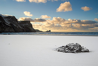 Beach In Snow - p1562m2164347 by chinch gryniewicz