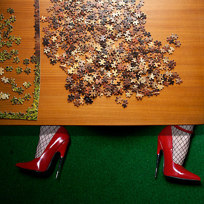 Puzzle and High Heels - p230m2152675 by Peter Franck