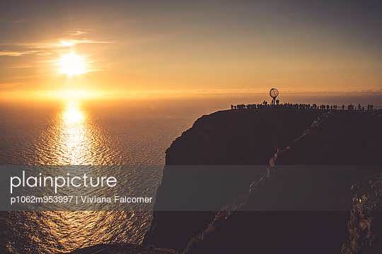 Midnight sun at North Cape, Norway - p1062m953997 by Viviana Falcomer